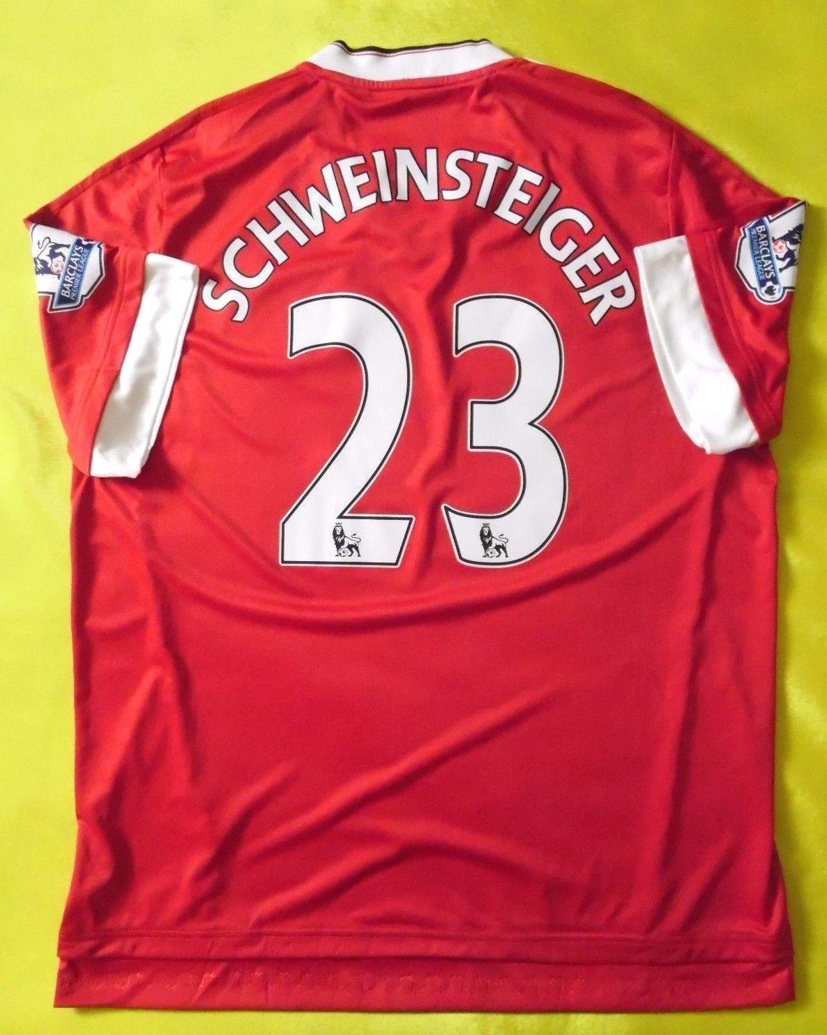 Manchester United Schweinsteiger 2015 Original Football Shirt Jersey Adidas 5+ 5