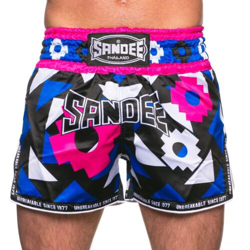 Sandee Inca Muay Thai Blue//Pink Boxing  Shorts