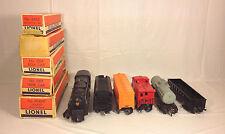Lionel 681 6 8 6 Pennsylvania Turbine Locomotive 2671W Coal Tender Cars & Boxes