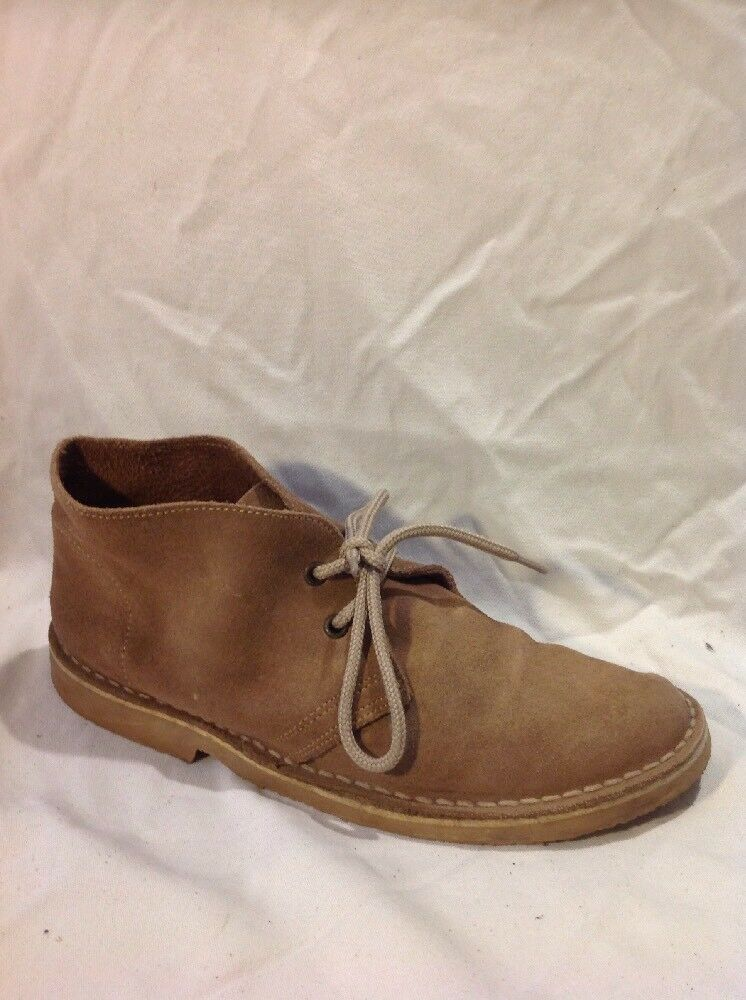 Roamers Brown Ankle Suede Boots Size 7