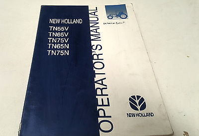Industrial Tn75n 2000 New Holland Tractor Operators Manual Tn55v