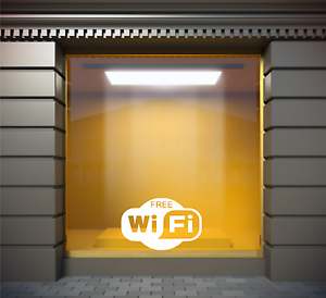 free wifi shop business decal cafe
