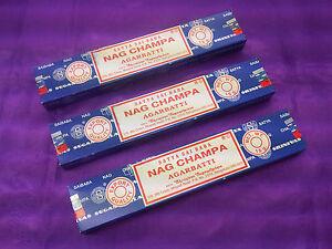 3x Export Quality Original Satya Sai Baba Nag Champa Agarbatti Incense Sticks15g