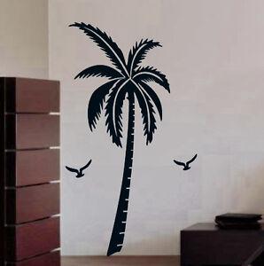 Wandaufkleber wandtattoo wandsticker wanddekos wallsticker baum kokospalme kt131 ebay - Wandsticker baum ...