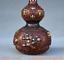 8-034-Vieille-Chine-rouge-Cuivre-Dore-prune-fleur-Bambou-Fleur-Gourdes-Vase miniature 3