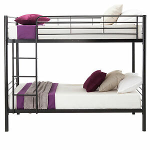 BN-2x3FT-Single-Black-Metal-Bunk-Bed-Frame-2-Person-for-Adult-Children