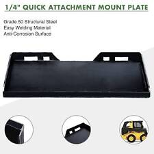 14 Quick Attachment Mount Plate Kubota Bobcat Skidsteer Trailer Adapter