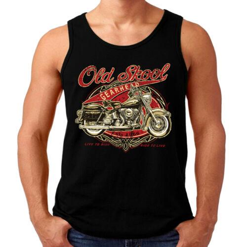 Velocitee Homme Gilet Old School Classic American usa moto biker A22678
