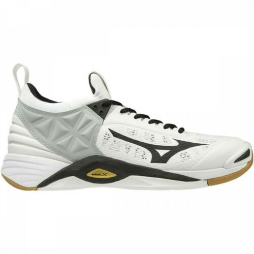 NEW Mizuno WAVE Momentum Low Volleyball Shoes V1GA1912 White Black With Tracking