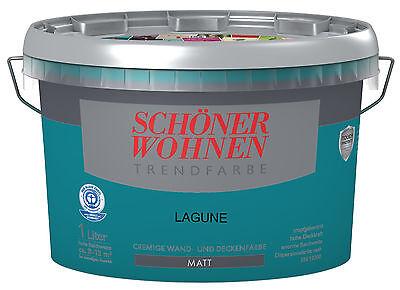 Schöner Wohnen Trendfarbe Lagune Matt 1 L Wandfarbe NEUu0026UVP Neuware