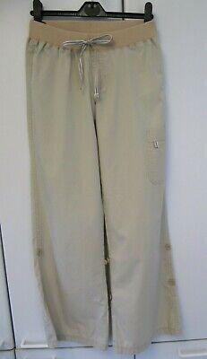 """""""m & S"""" Pantaloni Di Cotone Color Kaki Con Lunghezza Regolabile-taglia 8-in Buonissima Condizione-mostra Il Titolo Originale Tecnologie Sofisticate"""