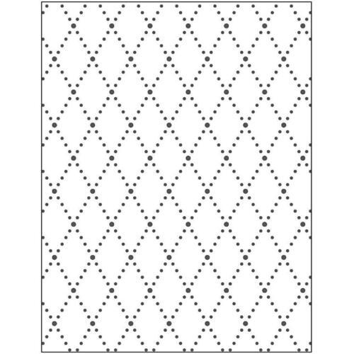 Carpeta de grabación en relieve rombo diseño troquelado Sizzix Cuttlebug máquinas de elaboración de tarjetas