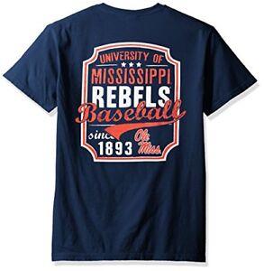 size 40 21bef 42d14 NCAA Mississippi Old Miss Rebels Baseball Frame Short Sleeve Pocket  T-Shirt, .