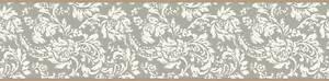Wallpaper-Border-Metallic-Silver-and-White-Mini-Damask-with-Gold-Edges