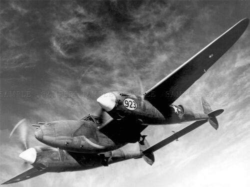 MILITARY AIR PLANE FIGHTER BLACK WHITE LOCKHEAD P-38 POSTER ART PRINT BB964A
