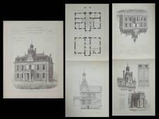 ALFORTVILLE, MAIRIE - PLANCHES ARCHITECTURE 1890 - PREUX