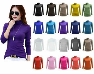 LADIES-WOMENS-POLO-NECK-TOP-STRETCH-LONG-SLEEVE-TURTLE-NECK-TOP-JUMPER-8-26