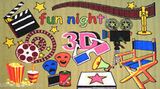 "3x5  Rug  3D Movie Fun Time Theater Cinema Watch Film Night  TV  Size 3'3""x4'10"""