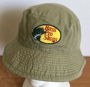 2dd6ffe22e2a2 Bass Pro Shops Hat bucket Cap Youth One Size Khaki Classic Logo ...