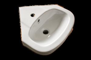 Keramik Eckwaschbecken Handwaschbecken Eck-Waschbecken Eckwaschtisch weiß