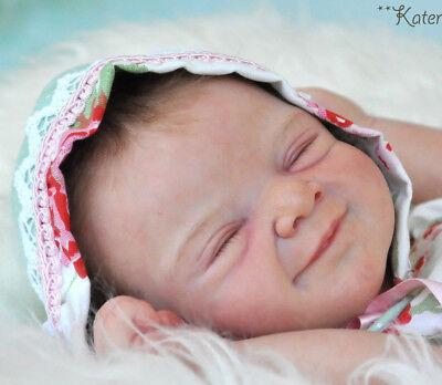 """Contemplativo Milo Di Heike Kolpin Rinato Baby Bambola In Vinile Kit @limited @ 19"""" Edizione 444-mostra Il Titolo Originale"""