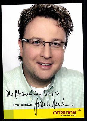 100% QualitäT Frank Beecken Rbb Autogrammkarte Original Signiert ## Bc 37991