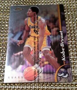 Topps-Finest-1999-20-Kobe-Bryant-OVERSIZED-card-Nm-EXTREME-RARE-LAKERS-w-film