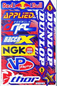 Motorrad Aufkleber Sponsoren Rennsport Motocross Bike Auto