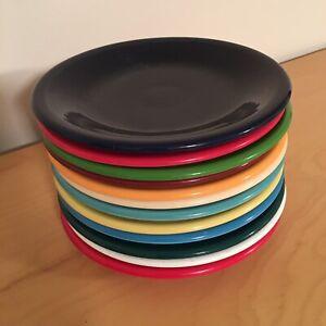 Vintage-Fiestaware-Dessert-Plates-Lot-Of-12