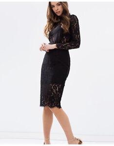 Knee Length Black Sheer Lace High M White Skirt Keepsake L Electric Waist S awgSHOxIq