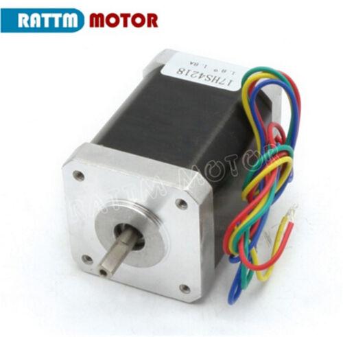 2-Phase hybride photorépéteur Motor Nema 17 60 mm 1.8 A 95 Oz-in//65Ncm pour imprimante 3D//CNC