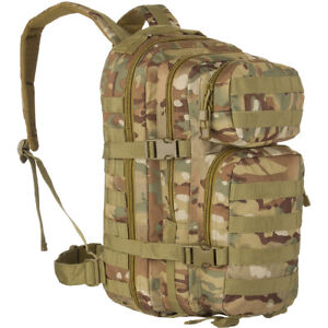 9c57ac8360eb Details about Army Tactical Combat Assault Day Pack Rucksack Hiking MOLLE  20L Multitarn Camo