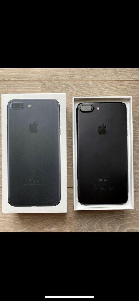 iPhone 7 Plus, 128 GB, sort