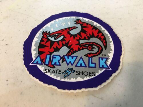 NOS VINTAGE AIRWALK SKATE SHOES PURPLE//RED DINOSAUR SKATEBOARDING STICKER