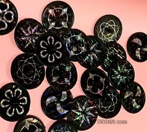 lot-of-10-shiny-spinning-tops-Prize-Party-Favor-Assorted-Prism-Black-spin-toys
