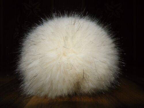 Blaufuchs Polarfuchs Bommel Pelz Fell Imitat Pompon 9-15cm schwarz,grau-weiß NEU