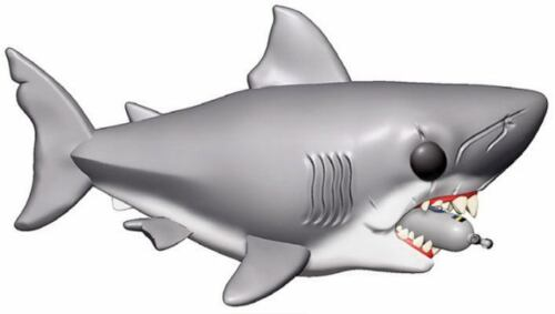 Movies Vinyl Figure Jaws with Diving Tank 15 cm Funko Mini Jaws Oversized POP