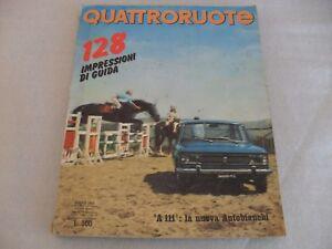 QUATTRORUOTE-N-161-MAGGIO-1969-AUTOBIANCHI-A111-FIAT-128-DAF-55-BERLINA
