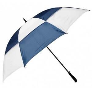 """NEW Golf Craft 68"""" Windbuster Umbrella - White/Navy - Drummond Golf"""