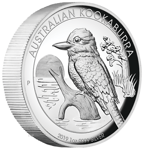 2016 Australian Kookaburra 1oz Dollar $1 Silver Proof High Relief Coin Australia