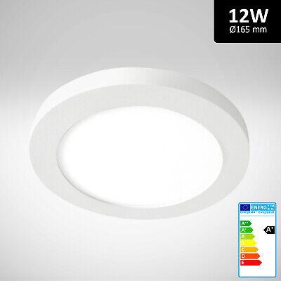 12W Ultraslim LED Panel Aufputz Warmweiß 1010 lm Deckenleuchte Lampe Rund