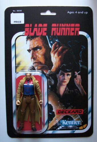Custom Made Blade Runner Deckard Vintage Style 3 3//4 Action Figure