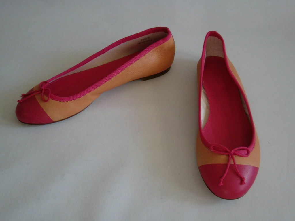 New New New J.CREW Taille 7 NATALIA DIP-DYED LEATHER BALLET FLATS 956d7f