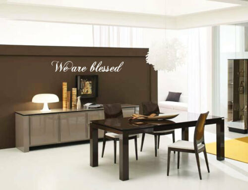 We are blessed Wall Quote Art Stickers Wall Decals bn