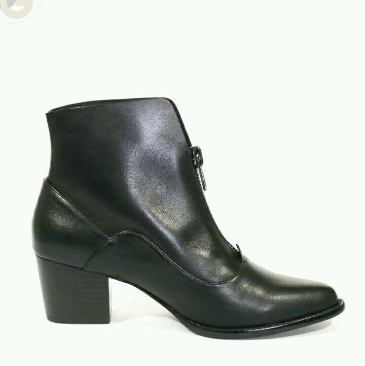 Chelsea Crew — Negro Cuero Sissy botín botín botín 10M 9812e4