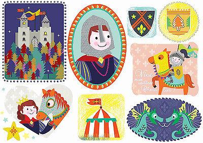 *Sticker&Postkarte*Kinder*Ritter*10 x15cm