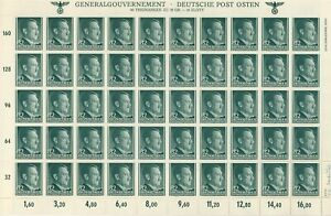 Stamp-Germany-Poland-General-Gov-039-t-Mi-080-Sheet-1941-WWII-Fascism-Hitler-MNH