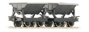 Roco-34600-H0e-009-Cote-Basculant-Tremie-Wagon-Ensemble-2-Wagons-Gris-Epoch