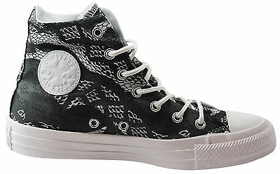 Converse CT All Star Hi Top Womens Canvas Trainers Boots Black White  547253C U17 152360069