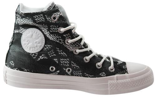 Converse ct all star hi top pour femme toile baskets bottes noir blanc 547253C U17